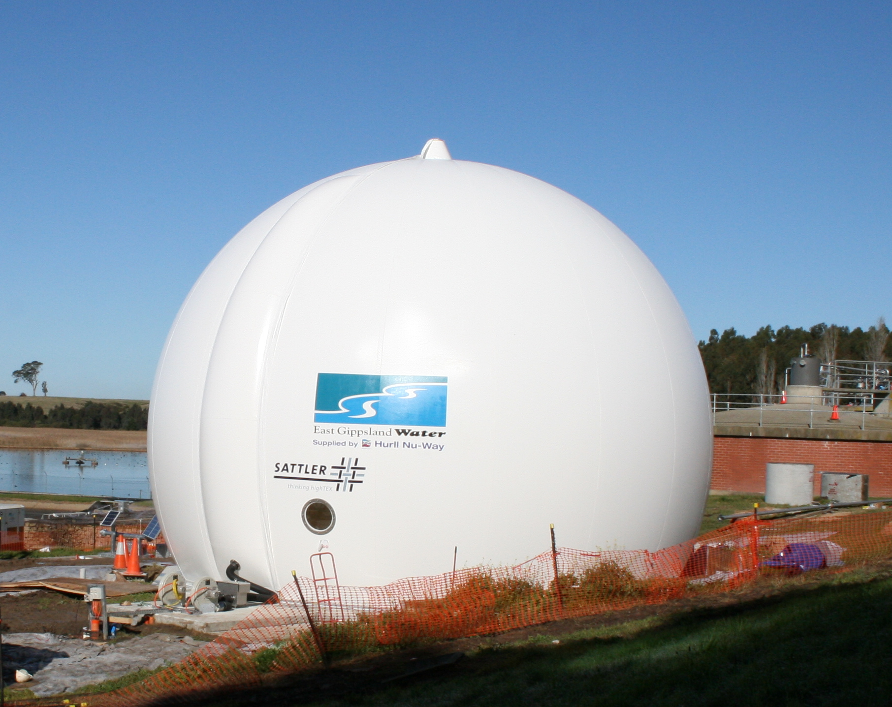 Gas dome at BWWTP
