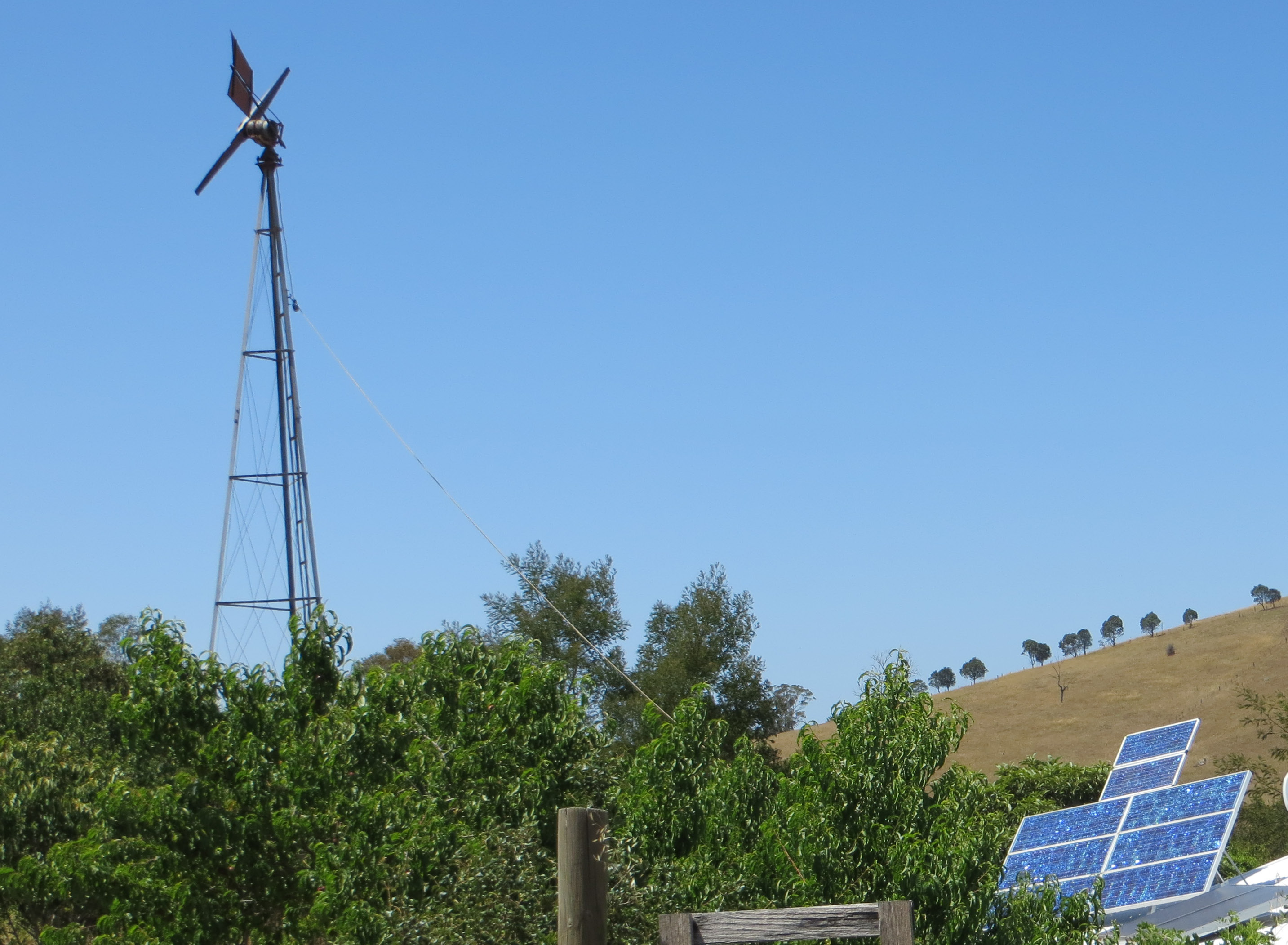 Windmill & solar panels at Ensay
